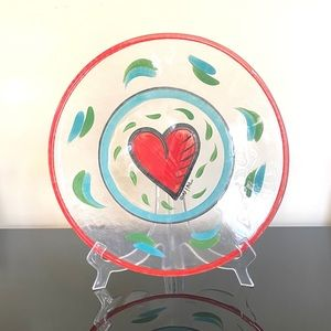 Kosta Boda Heart Glass Plate